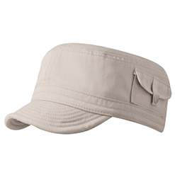 military cap with pocket