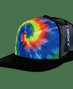 Rainbow tie dye trucker cap (1079)