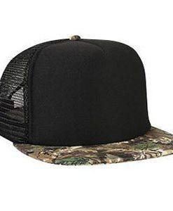 High crown camouflage golf mesh cap (132-1121)