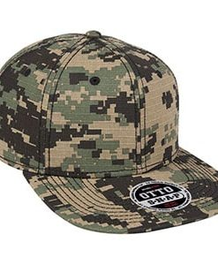 Six panel digital camouflage flat cap (148-1193)
