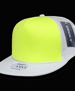 Flat peak neon trucker cap (222)