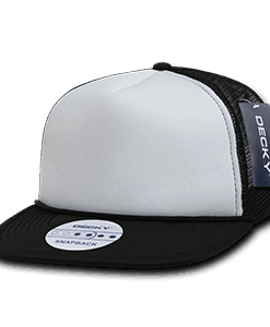 Two tone flat peak foam trucker (224)