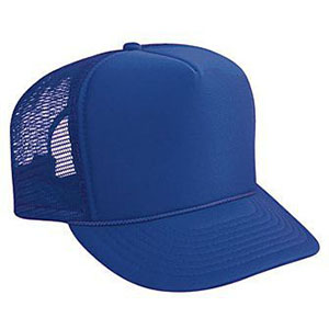 Five panel poly foam golf mesh back cap (39-165)