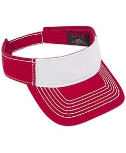 Washed cotton twill visor (60-1196)