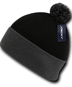 Athletic pom pom beanie (687)