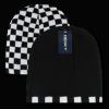 Checkered reversible beanie (8024)