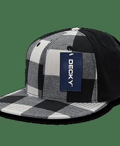 Flat peak plaid flex cap (903)