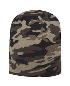Camouflage jersey knit beanie (91-1181)