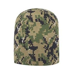Digital camouflage jersey knit beanie (91-1184)