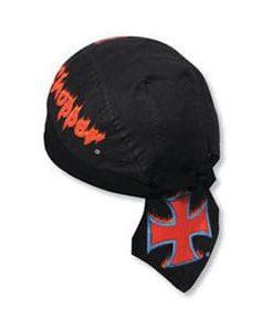 Printed design biker style head wrap (98-595)