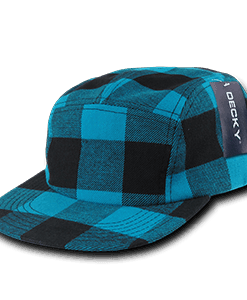 Five panel plaid racer cap (984)
