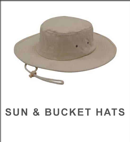 sun and bucket hats